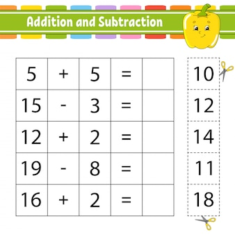 Addition and subtraction.