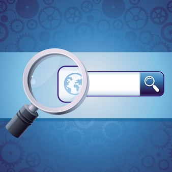 Address bar with globe icon and magnify glass