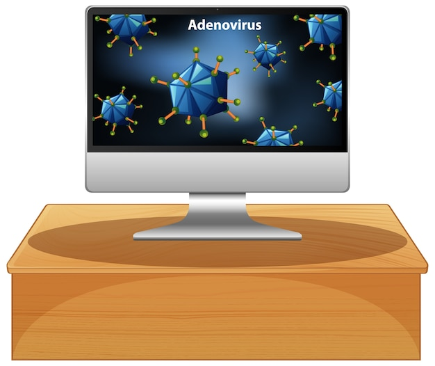 Аденовирус на компьютере