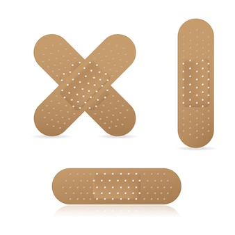 Adhesive bandage elastic medical plasters collection set