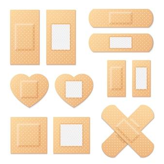 Adhesive bandage elastic medical plasters  set