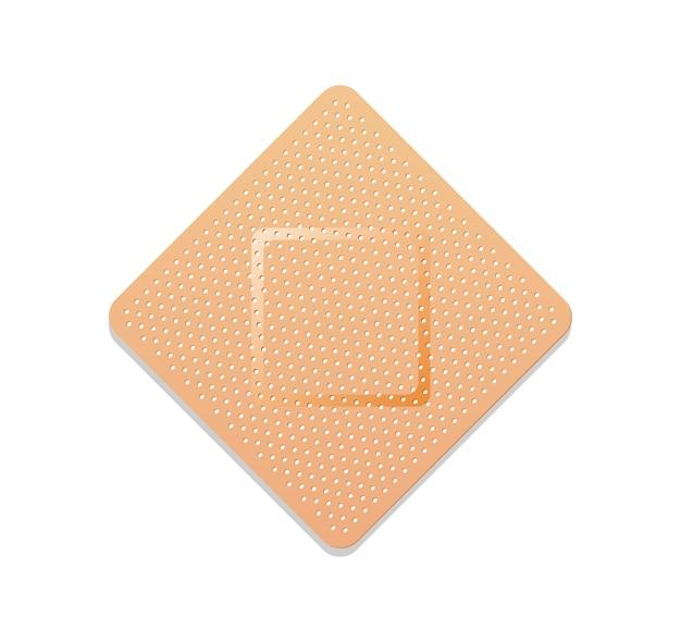 접착 성 붕대 또는 고집 석고 흰색 절연