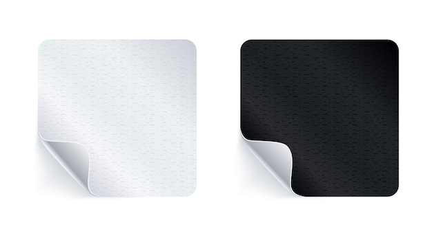 Adhesive stickers. realistic empty sticky labels or price tags set with shadow.
