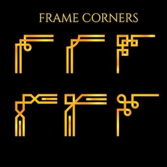 Adjustable classic frame corners ornament