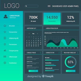 Admin dashboard panel template