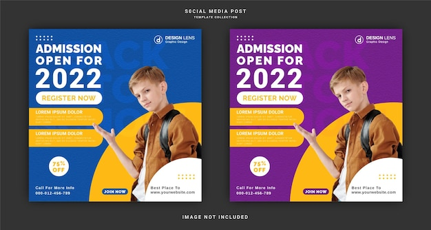 오픈 2022 소셜 미디어 포스트 템플릿 입학