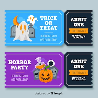 Admit one halloween tickets with numbers