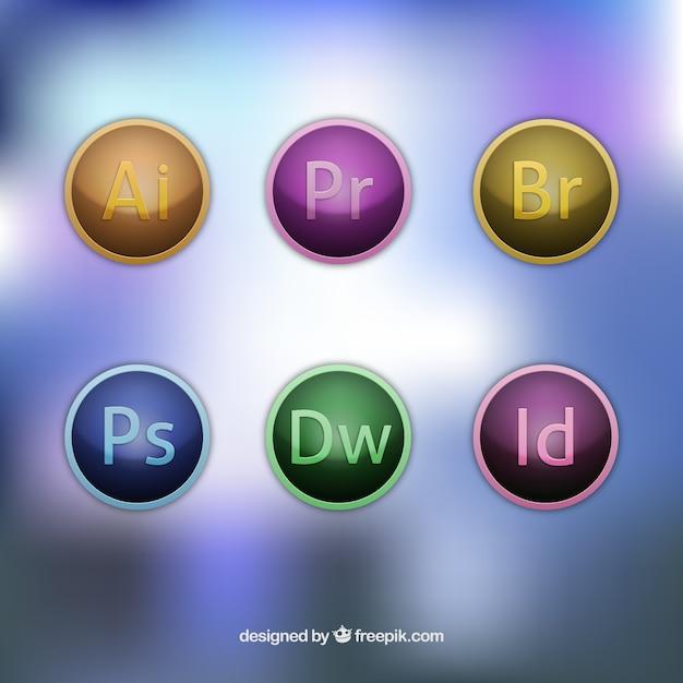 Adobe программное обеспечение иконки