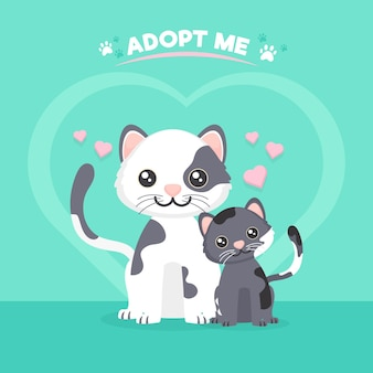 Принять концепцию питомца с милыми кошками