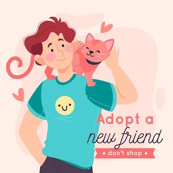 애완 동물 개념을 채택