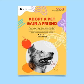 Принять вертикальный шаблон флаера для домашних животных