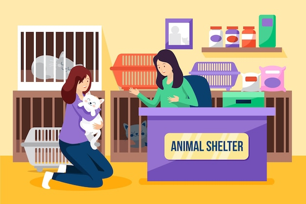 Принять концепцию иллюстрации домашних животных