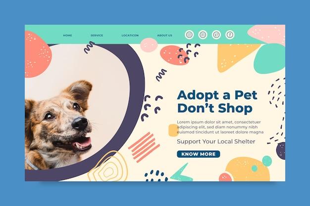 Принять шаблон целевой страницы для домашних животных