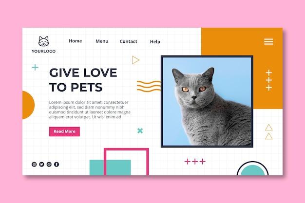 애완 동물 방문 페이지 템플릿 채택