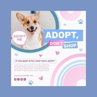 Принять шаблон квадратного флаера для домашних животных