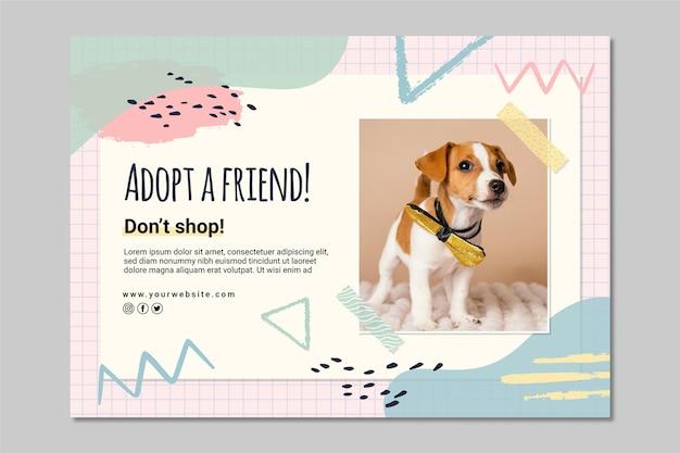Adopt a friend banner template