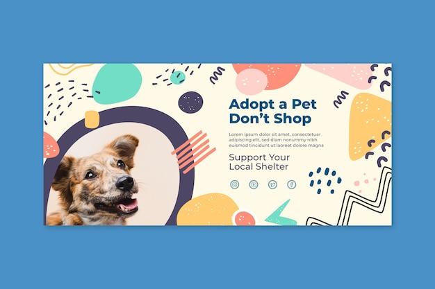 Adopt a pet banner template
