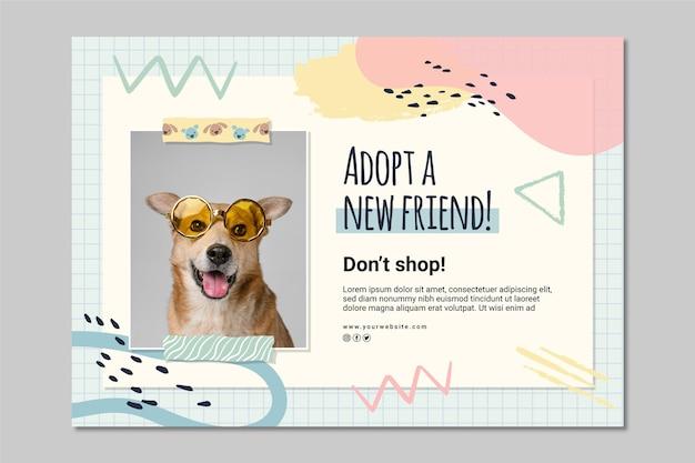 Adotta un modello di banner per animali domestici