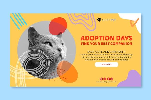 Adopt a pet bannertemplate