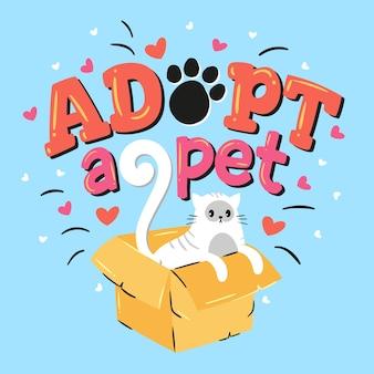 Adopt a pet concept