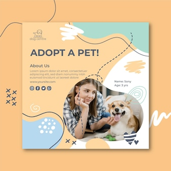 Adopt a pet flyer template