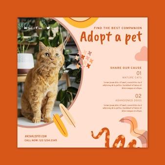 Adopt a pet flyer template