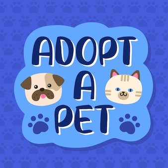 Adopt a pet from shelter lettering