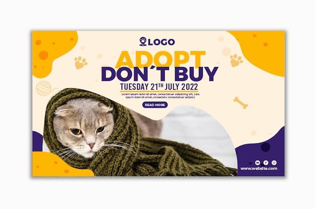 Adotta un banner orizzontale per animali domestici