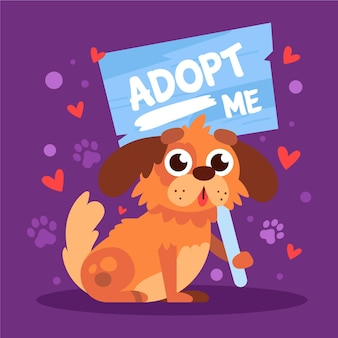 Adopt a pet illustration with dog
