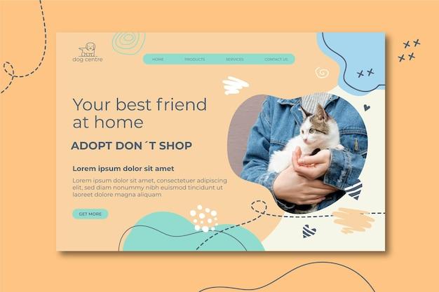 Adotta un modello di pagina di destinazione per animali domestici
