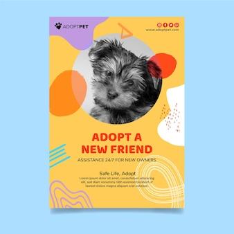Adotta un modello di poster per animali domestici