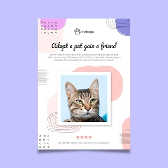 Adopt a pet poster with cute animals