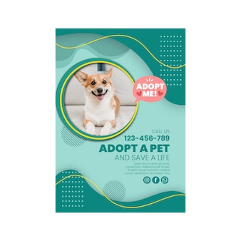 Adopt a pet poster with photo