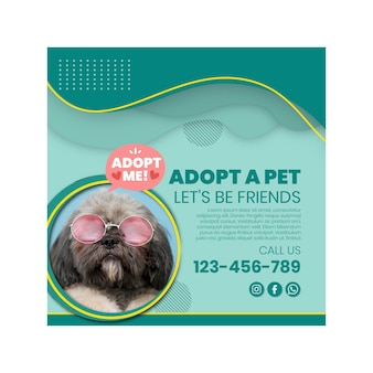Adopt a pet squared flyer