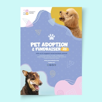 Adopt a pet vertical flyer template