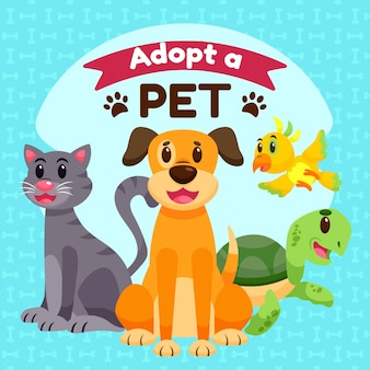Adopt a pet with turtle and dog