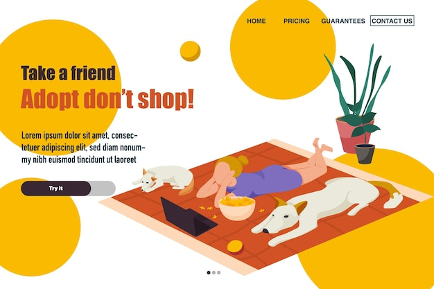 Adopt, don't shop landing page template