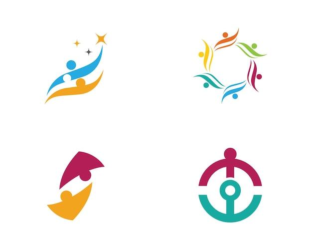 입양 및 커뮤니티 케어 로고 템플릿 벡터 아이콘