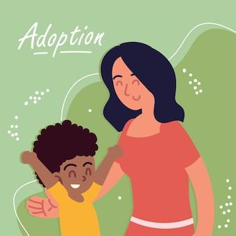 Усыновление матери и сына