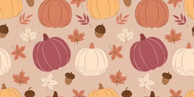어린이 패브릭 벽지 등을 위한 사랑스러운 가을 시즌 원활한 패턴