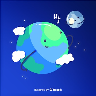 Adorable background of the earth