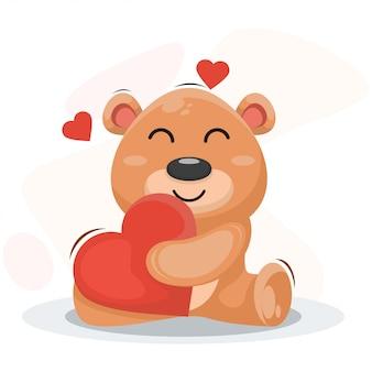 愛漫画のベクトルと愛らしいクマ