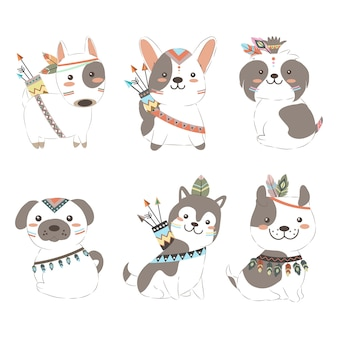 Adorable boho puppies