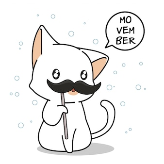 Adorable cat in movember day