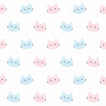 愛らしい猫のシームレスパターン