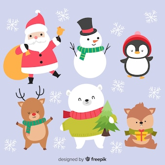 Adorable christmas characters collection