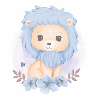愛らしいかわいい動物のライオン