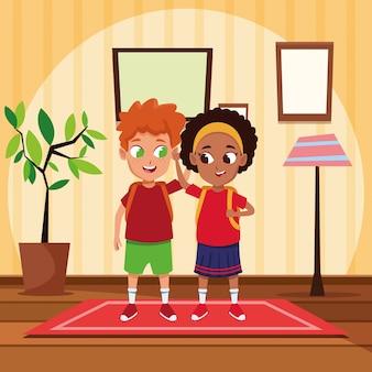 Adorable cute children childhood cartoon