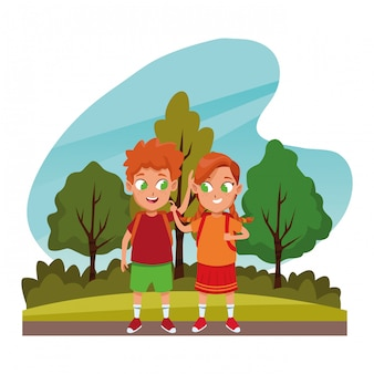사랑스러운 귀여운 어린이 어린 시절 만화