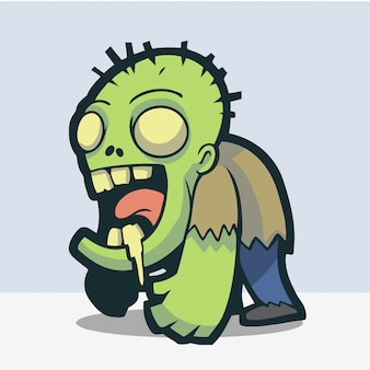 Adorable and cute zombie